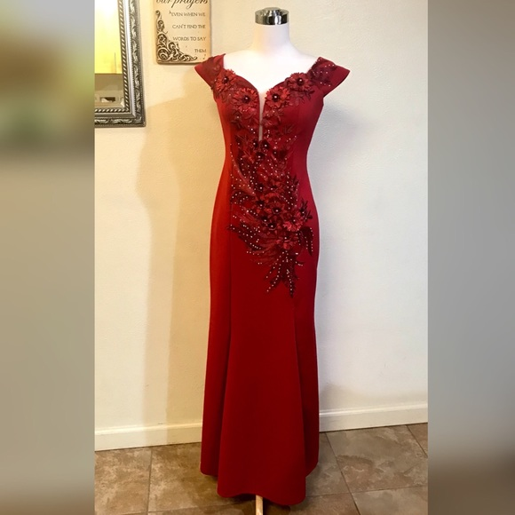 Majestic Vogue Collections Dresses | Filipiniana Red Off Should Long ...